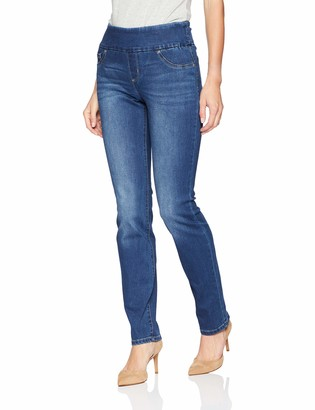Lee Women's Petite Slimming Fit Rebound Straight Leg Pull On Jean