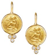 Temple St. Clair Angel Diamond & 18K Yellow Gold Drop Earrings