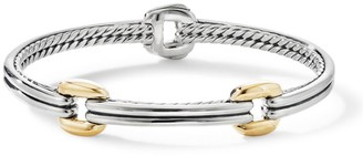 David Yurman Thoroughbred Double Link Bracelet with 18K Yellow Gold