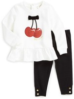 Kate Spade Infant Girl's Ma Cherie Graphic Top & Leggings Set