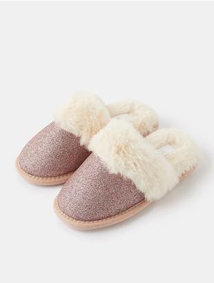 Accessorize Girls Glitter Mule Slippers