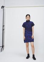 Issey Miyake blue-hued thunder dress