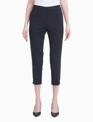 Calvin Klein Straight Leg Scuba Crepe Cropped Pants