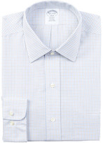 Brooks Brothers Check Print Regent Fit Dress Shirt