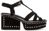 Marc Jacobs Black Suede Studded Sandals
