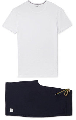 Paul Smith Slim-fit Cotton-jersey Pyjama Set - White