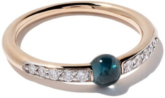 Pomellato 18kt rose gold M'ama non M'ama topaz & diamond ring