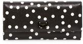Dolce & Gabbana Leather Polka Dot Foldover Checkbook Wallet