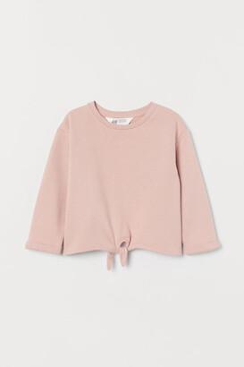 H&M Tie-hem sweatshirt