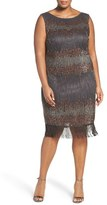 Pisarro Nights Plus Size Women's Pissaro Nights Embellished Sheath Dress