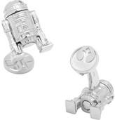 Cufflinks Inc. Men's Sterling Silver 3D R2D2 Cufflinks