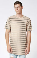 PacSun Kava Striped Scallop T-Shirt