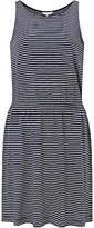 John Lewis Children's Narrow Stripe Jersey Dress, Navy