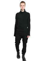 Julius Cotton Wool Jacquard Knit Turtleneck
