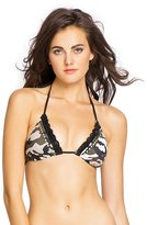 GUESS Camouflage Triangle Bikini Bra Top