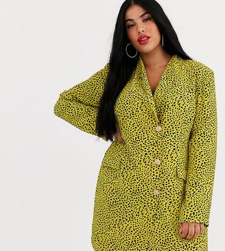 Unique21 Hero abstract print blazer dress