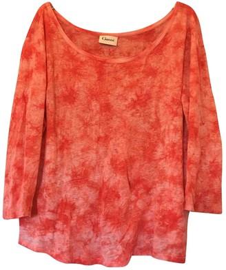 Ganni Pink Linen Top for Women