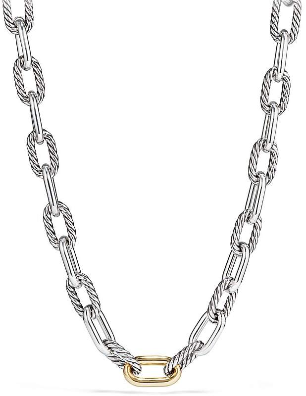 David Yurman Madison Large Chain Necklace with 18K Gold