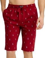 Polo Ralph Lauren Logo Print Cotton Pajama Shorts