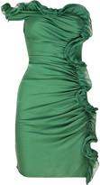 Silk-chiffon mini dress