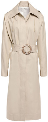 Joseph Belted Cotton-gabardine Hooded Trench Coat