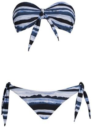 On The Island Bandeau Tie Bikini Set