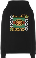 Gucci Printed cotton hoodie