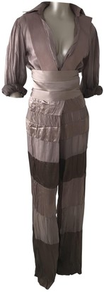 Gianfranco Ferre Brown Silk Trousers