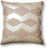 The Piper Collection Lauren 22x22 Linen-Blend Pillow, Pearl