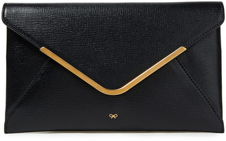 Anya Hindmarch Pebbled-leather Envelope Clutch