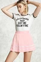 Forever 21 FOREVER 21+ Satin Pleated Mini Skirt