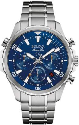 Bulova Men's Marine Star Stainless Steel Chronograph Watch