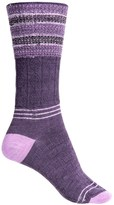 Smartwool Metallic Stripe Cable Crew Socks - Merino Wool, Lightweight (For Women)