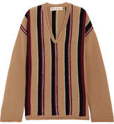 Marni Oversized Striped Wool Sweater - Beige