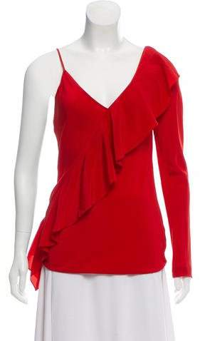 Diane von Furstenberg Silk One-Shoulder Blouse w/ Tags