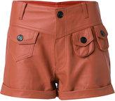 Andrea Bogosian - leather shorts - women - Leather - P