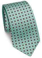 Kiton Flower Medallion Silk Tie