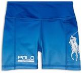 Ralph Lauren Girls' Ombré Jersey Logo Shorts - Little Kid