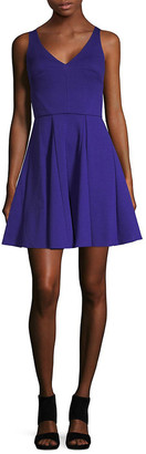 ABS by Allen Schwartz V-Neck A-Line Dress