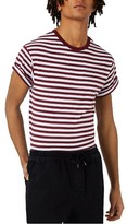 Topman Men's Stripe Muscle Roller T-Shirt
