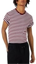 Topman Men's Stripe Muscle Roller T-Shirt