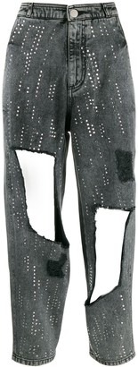 Philosophy di Lorenzo Serafini Embellished Distressed Jeans