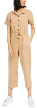 OAT Cotton Drawstring-Waist Jumpsuit