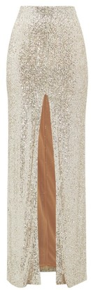 Galvan Modern Love High-rise Sequinned Maxi Skirt - Light Gold