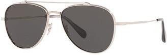 Oliver Peoples Rikson Titanium Aviator Sunglasses