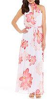 Calvin Klein Floral Halter Maxi Dress