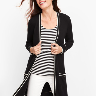 Talbots Tipped Open Duster