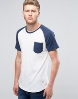 Ringspun Raglan Pocket T-shirt With Curved Hem