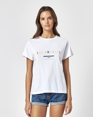 Charlie Holiday Women's White Shorts - La Slim Tee - Size One Size, S at The Iconic