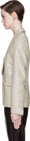 Maison Margiela Light Khaki Sequined Prince Of Wales Blazer